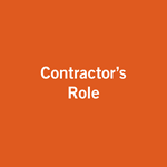 Contractor's Role