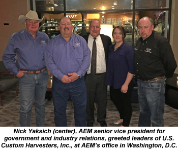 AEM meets with leaders of U.S. Custom Harvesters