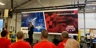 Rep. Kinzinger Visits Woods Equipment, Praises I Make America