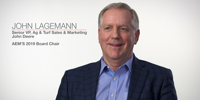 VIDEO: Deere's John Lagemann Talks Priorities as AEM Chair