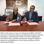 AEM, AFAT Partner to Enhance Exchange of Argentine Market Statistics