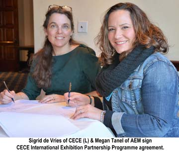 AEM and CECE Sign Exhibition Partnership Agreement
