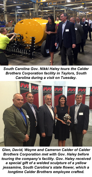 South Carolina Gov. Nikki Haley visits Calder Brothers