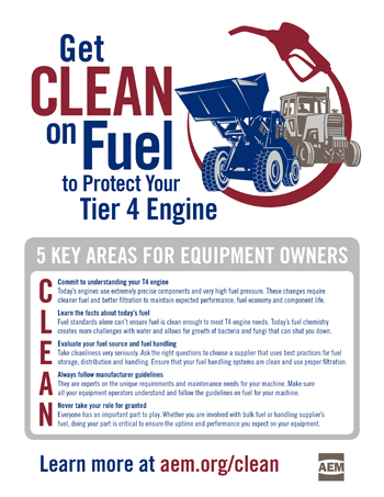 "Infographic tell equipment owners to ""get CLEAN on fuel"""