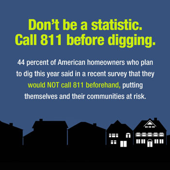 Make a call to 811 part of your springtime plans