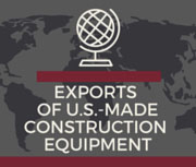 U.S. Construction Equipment Exports Still Down at Midyear