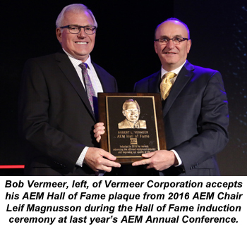 Bob Vermeer - AEM Hall of Fame induction