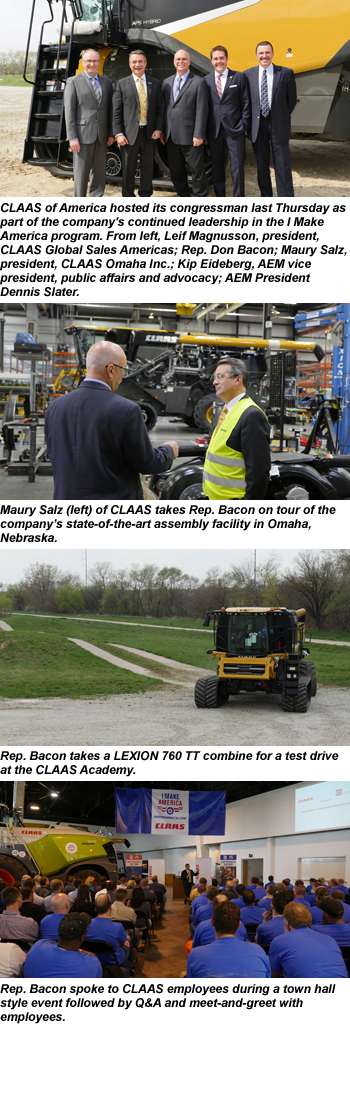 Rep. Bacon joins CLAAS for IMA event