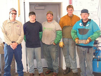Superior Weld Training Instructor Dave Dybdal (left) and some students.