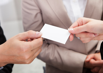 Business cards are not sales leads, says Candy Adams