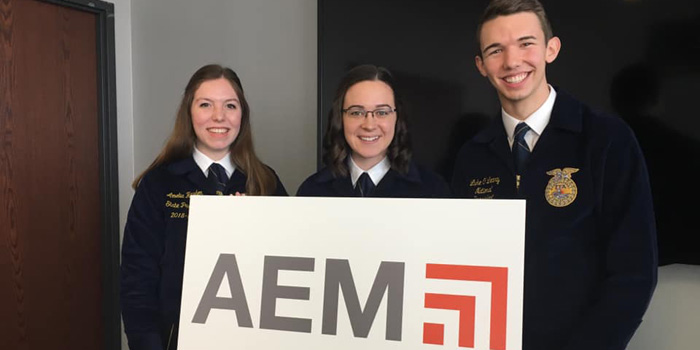 National FFA Leaders Visit AEM